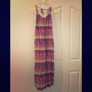 Multi colored maxi dress.
